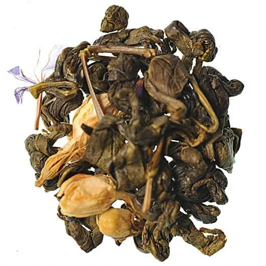 Зеленый чай Улитка с ароматом молока (вес.)