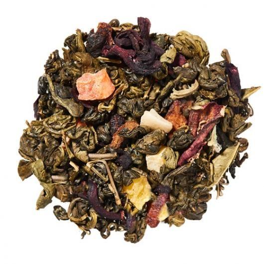Зеленый чай Улитка с восточными фруктами (вес.)