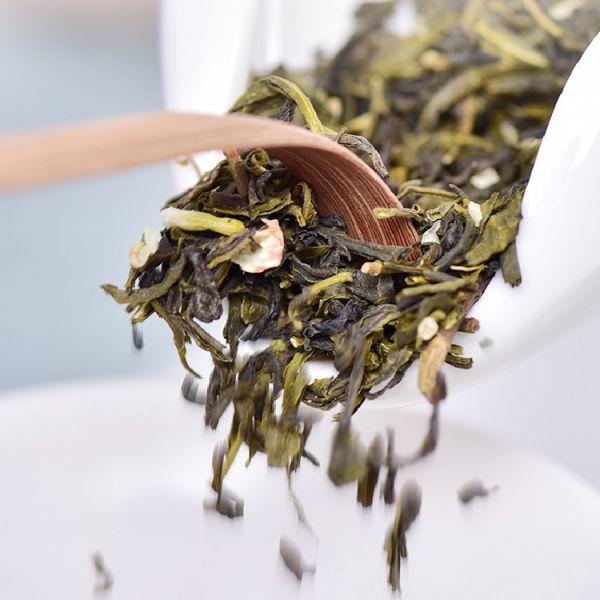Зеленый чай с жасмином Маофэн (Ворсистые пики с жасмином)